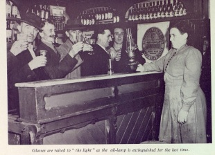 A toast to the switching on ceremony. ESB Journal August 1963
