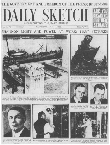 Daily Sketch Coverage of Shannon Scheme 1930