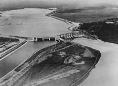 Aerial view of Parteen Weir