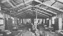 Dormitory in Irish camp