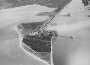 Ringsend Site, General View, Rare Picture of Pigeon Coal Stocks