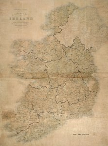 Original map used to plot rural areas and districts, c1946