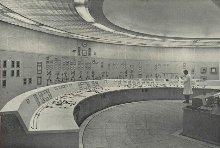 Ringsend control room, c1960s