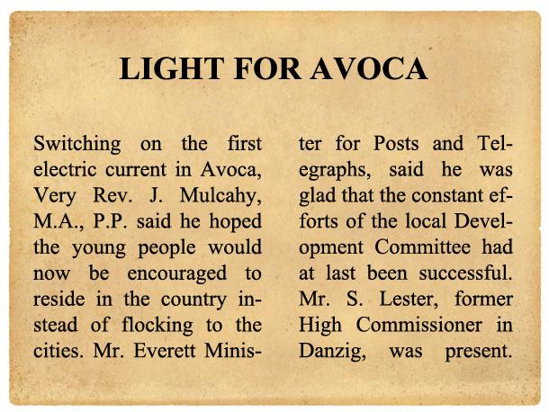 AVOCA-NEWSPAPER