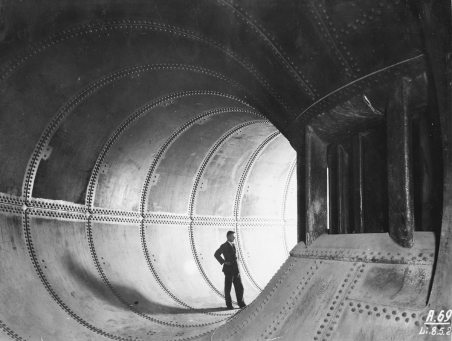 Spiral casing of 36000 turbine may 1929