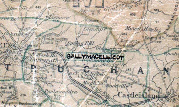 Ballymacelligot-map tralee