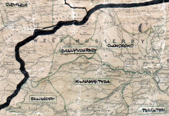 Ballyvourney-Map-cork