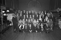 ESB crew and local committee St. Mary's Hall Mullingar May 1954