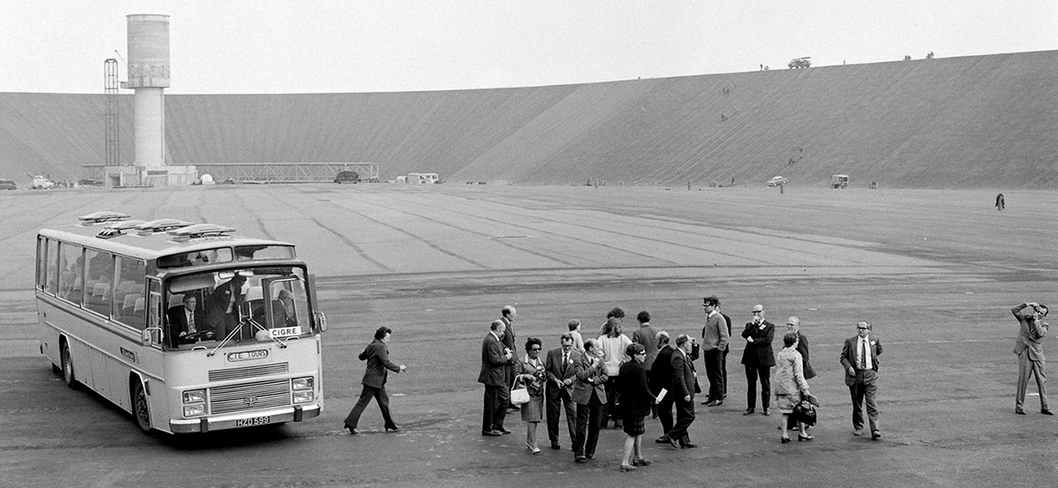 Visitors to Turlough Hill 1973