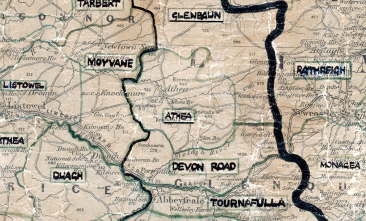 Athea Map Tralee
