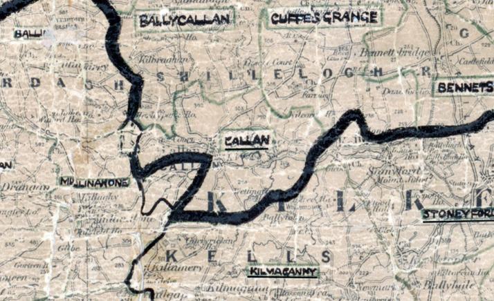 Callan-Map-Portlaoise