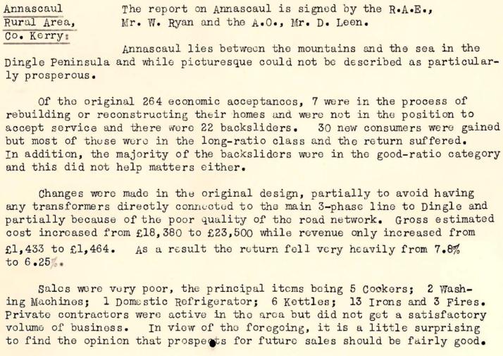 Annascaul-R.E.O.-News-January-1954-P