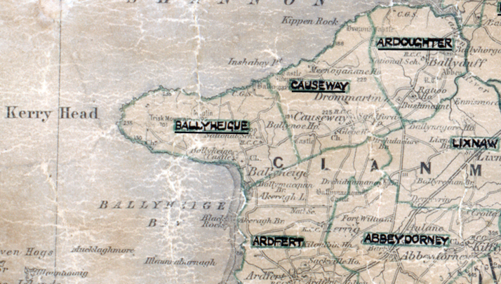 Ballyheigue-Map-tralee