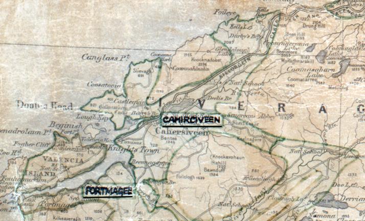 Cahirciveen-Map-tralee