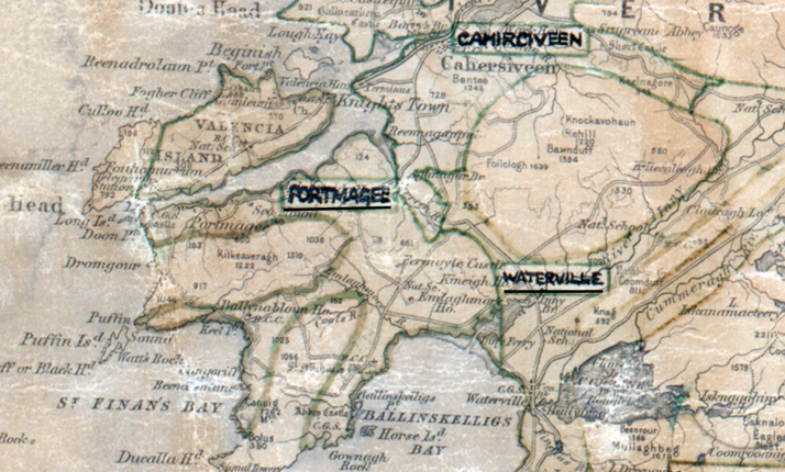Portmagee-Map-tralee