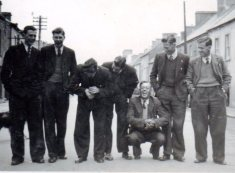 The 'ESB boys': second from left is Jimmy Oates, Sligo; third from right is Hubert Murray, with Tim Slevin to his right; far right is Mick Stapleton, Portumna.