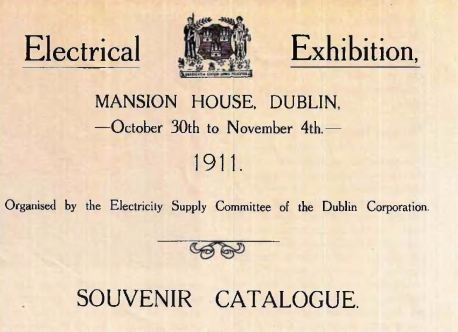 Cover of Dublin Corporation Catalogue, 1911