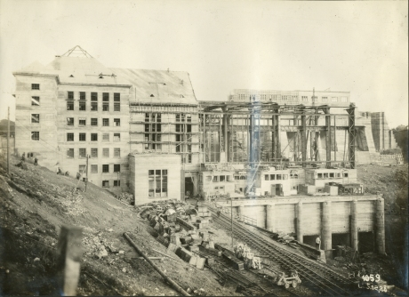 Site under construction December 1928