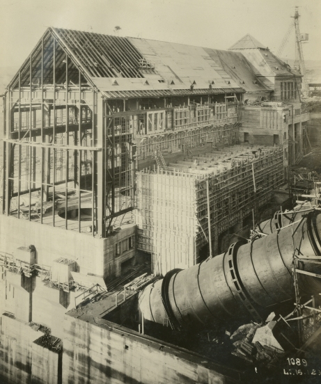 Steel frame construction 1929