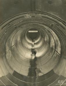 Final preparation to penstock III in June 1929