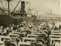 Unloading at Limerick docks