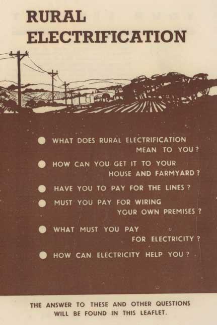Rural electrification pamphlet