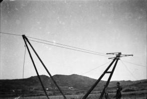 Erecting rural poles